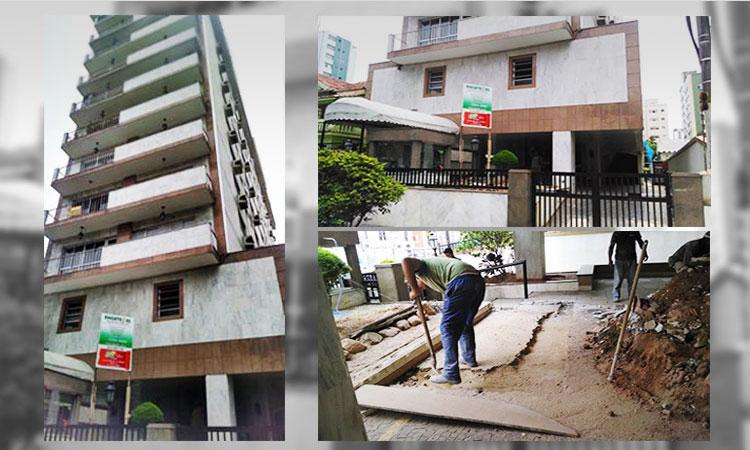 Construção da guarita, revestimento e substituição do piso