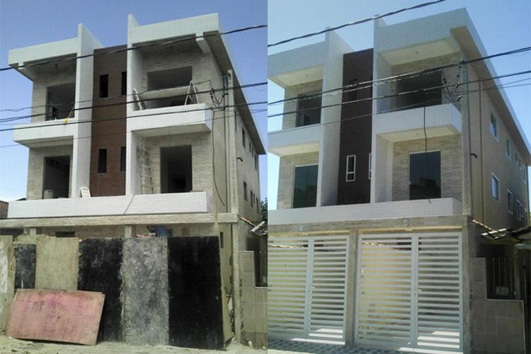 Construção de casa sobreposta